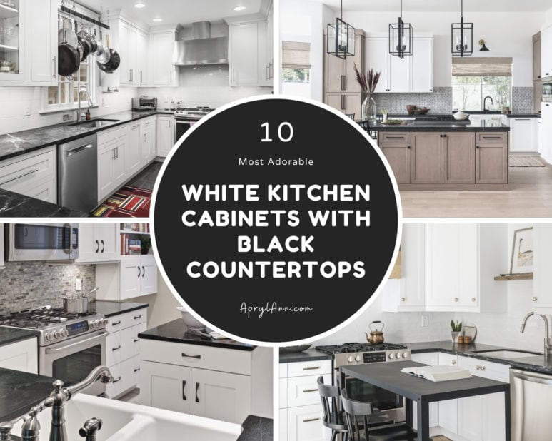 10 White Kitchen Cabinets With Black Countertops To Create Elegant Modern Style
