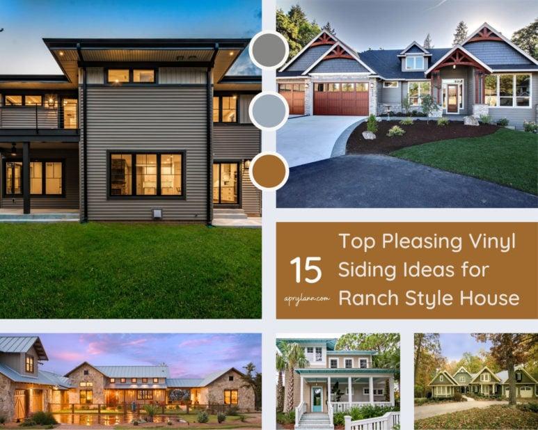 15 Top Pleasing Vinyl Siding Ideas For Ranch Style House