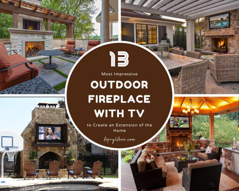13 Most Impressive Outdoor Fireplace With TV