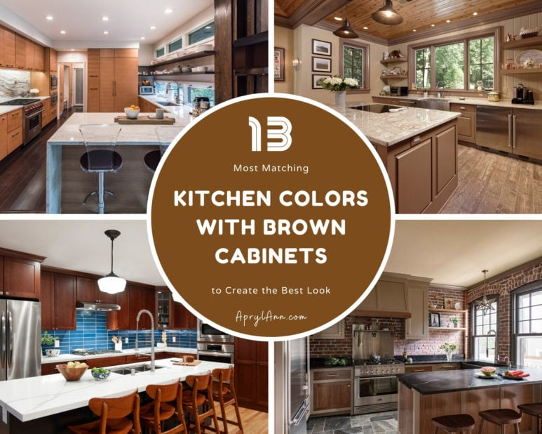 13 Most Matching Kitchen Colors With Brown Cabinets
