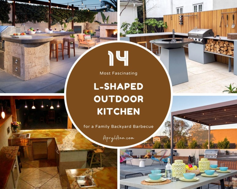 14 Most Fascinating L Shaped Outdoor Kitchen