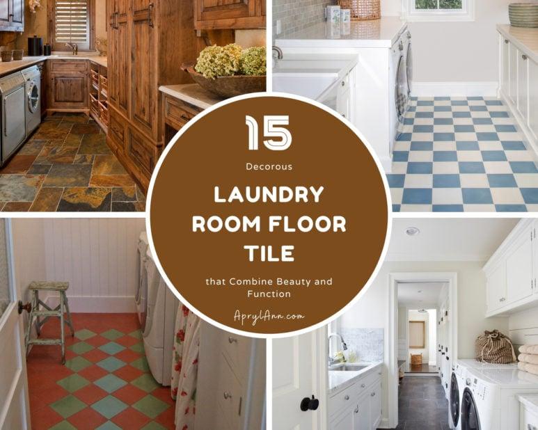 15 Decorous Laundry Room Floor Tile