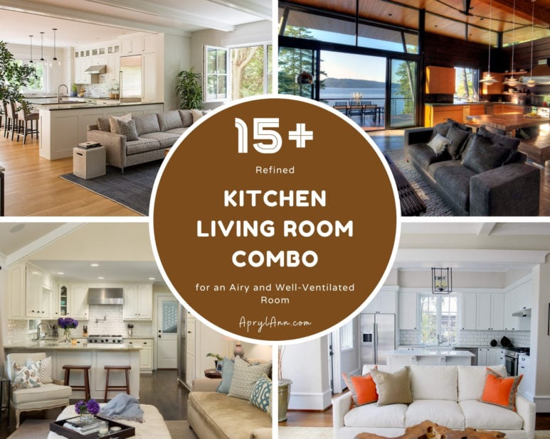 15  Refined Kitchen Living Room Combo For An Airy And Well Ventilated Room