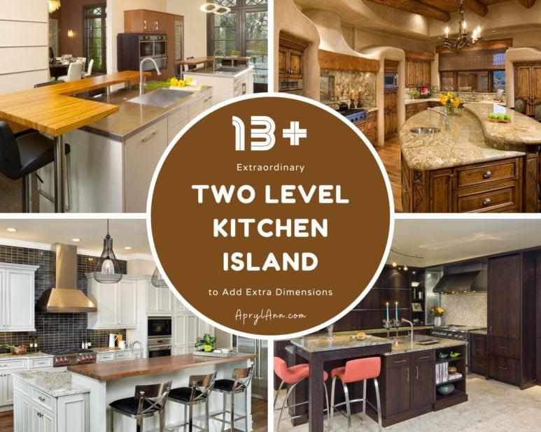 13  Extraordinary Two Level Kitchen Island