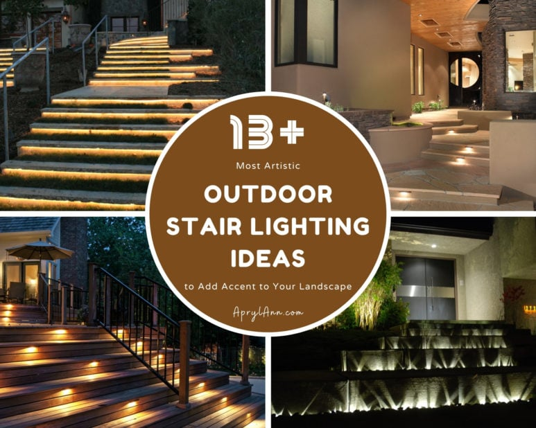 13  Most Artistic Outdoor Stair Lighting Ideas