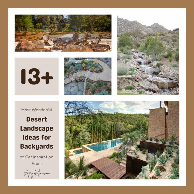 13  Most Wonderful Desert Landscape Ideas For Backyards