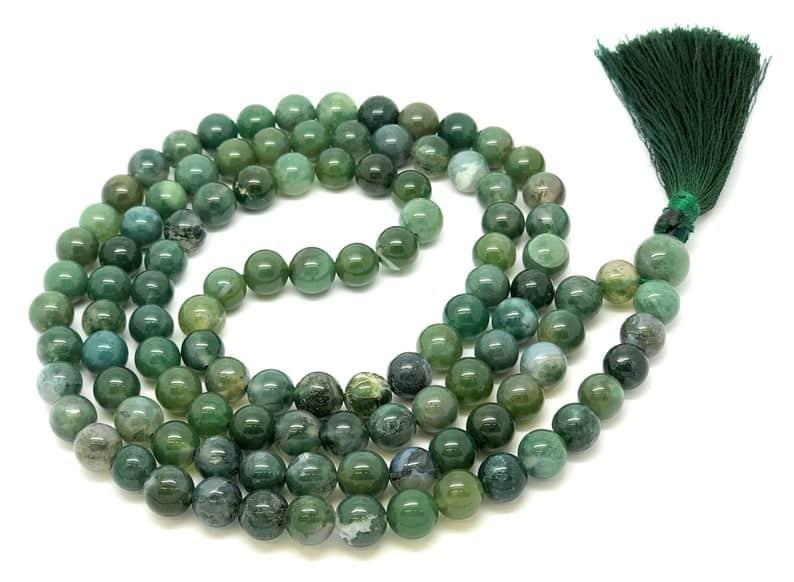 green mala beads