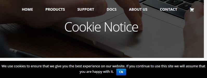 wordpress utvidelser cookie notice
