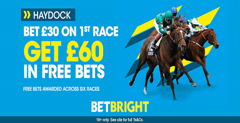 SATURDAY OFFER - Get £60 In Free Bets for Haydock