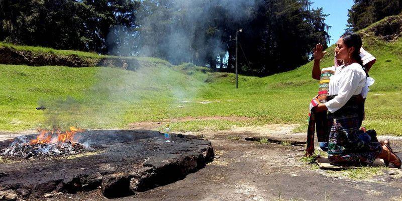 Quemadero de rituales maya