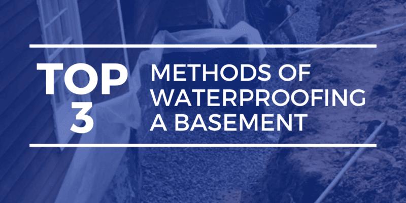 Waterproofing a basement - Methods