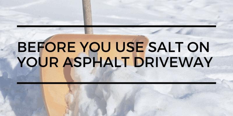 Asphalt Driveway Winter Care