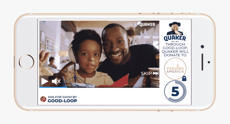 Quaker Oats programmatic ad that demonstrates ethical advertising
