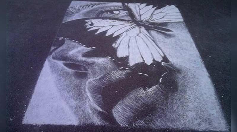 Chalk portrait by Russian amateur artist Rustam Valeyev
