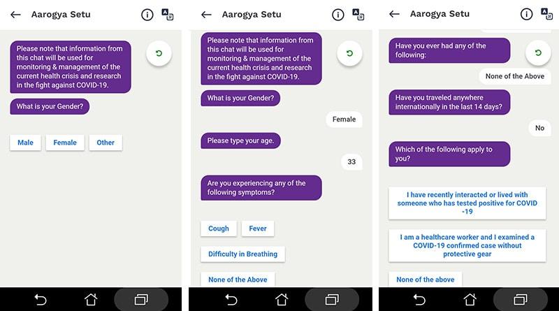 Aarogya Setu - Self-Assessment Test