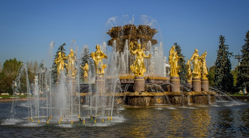 Peoples' Friendship (International Friendship) Fountain at VDNKh, Moscow
