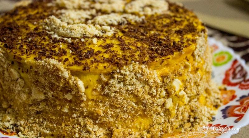 Multilayered mango cake