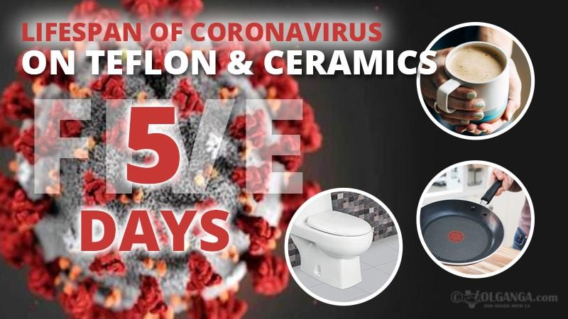 Lifespan of coronavirus on teflon and ceramics