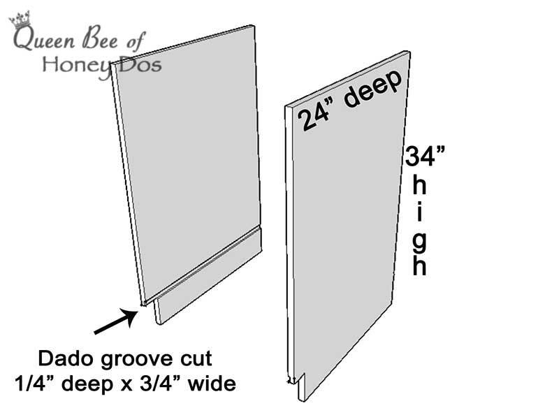 cabinet box construction sketch
