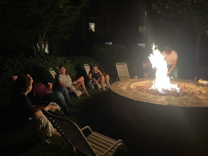 MO Pros around a camp fire