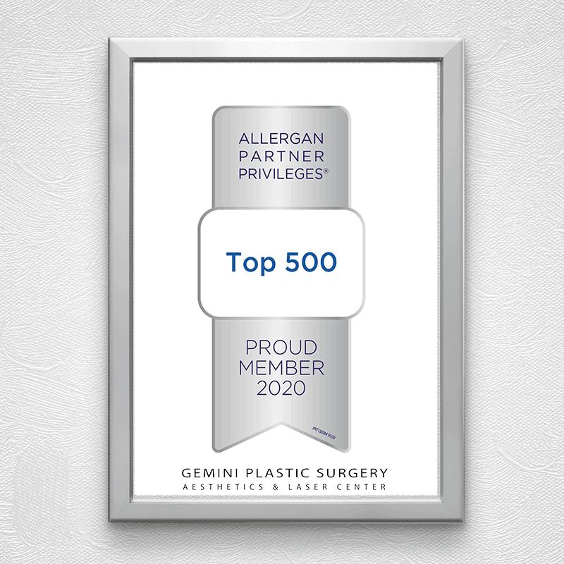 500 Allergan Partner Privileges Award 2020 · Best Medical Spa