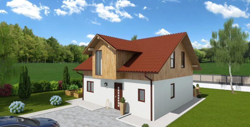 Mansardna hiša iz lesa Quintia