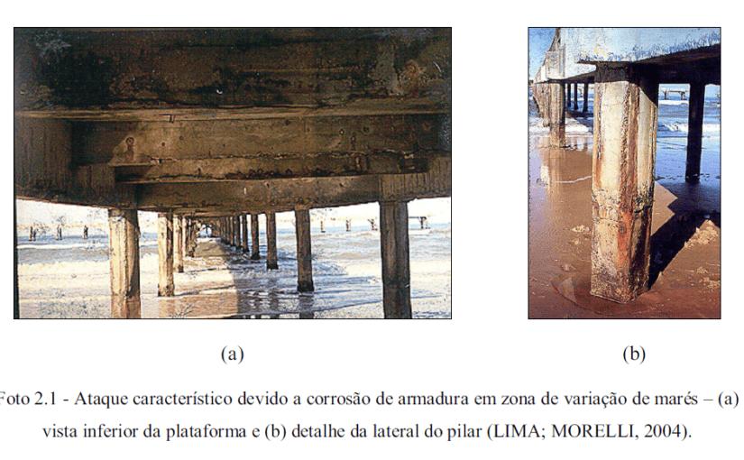 Inspeção de estruturas de concreto armado em ambientes agressivos