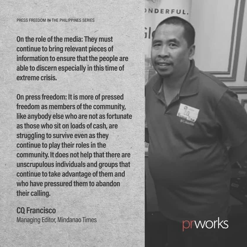CQ Francisco of Mindanao Times