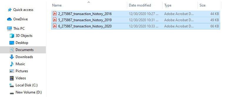 select pdf files in bulk