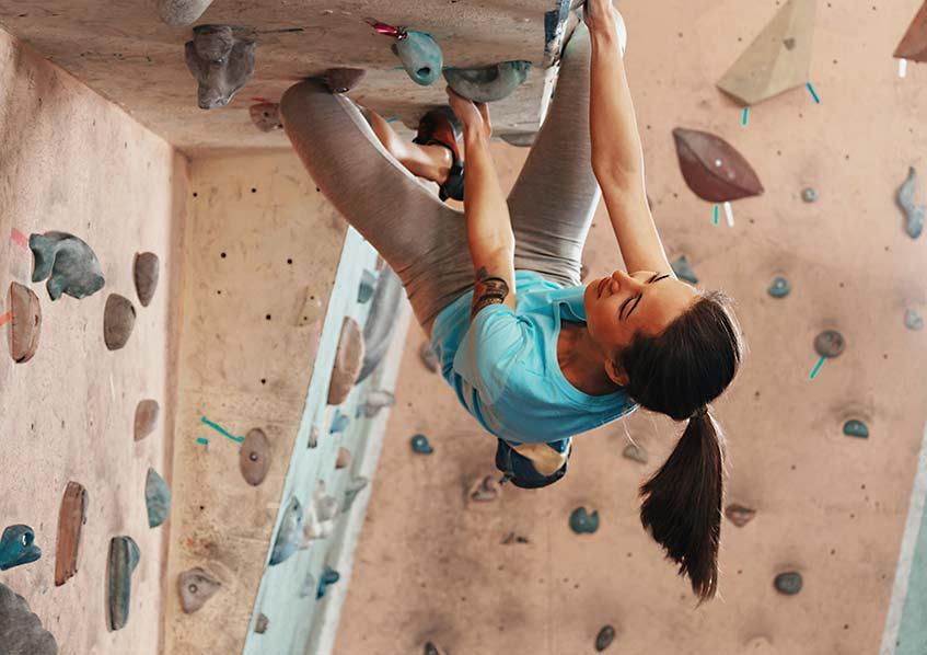 extreme wall climbing