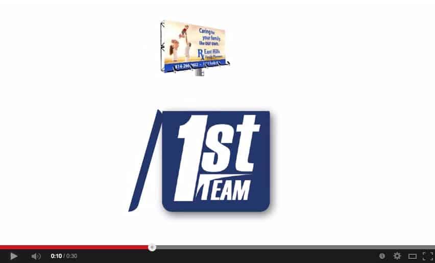 Still of 1st Team Advertising's commercial