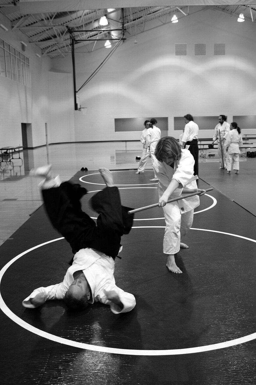 prise d'aikido sabre