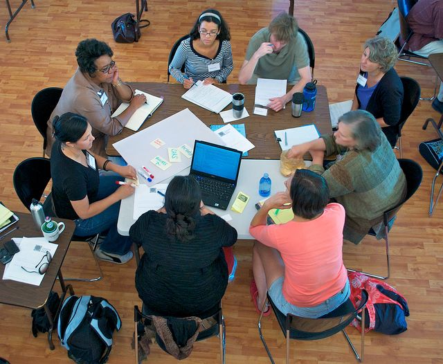 Picture: Group work by Eldan Goldenberg. Sourced from Flcikr and reproduced under a Creative Commons Attribution-NonCommercial-ShareAlike 2.0 Generic (CC BY-NC-SA 2.0) licence.