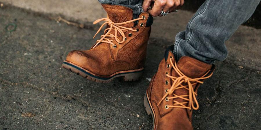 break in work boots