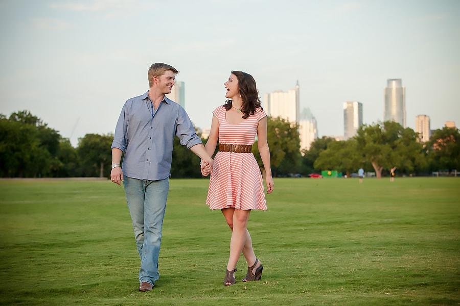 zilker park engagement portraits austin texas