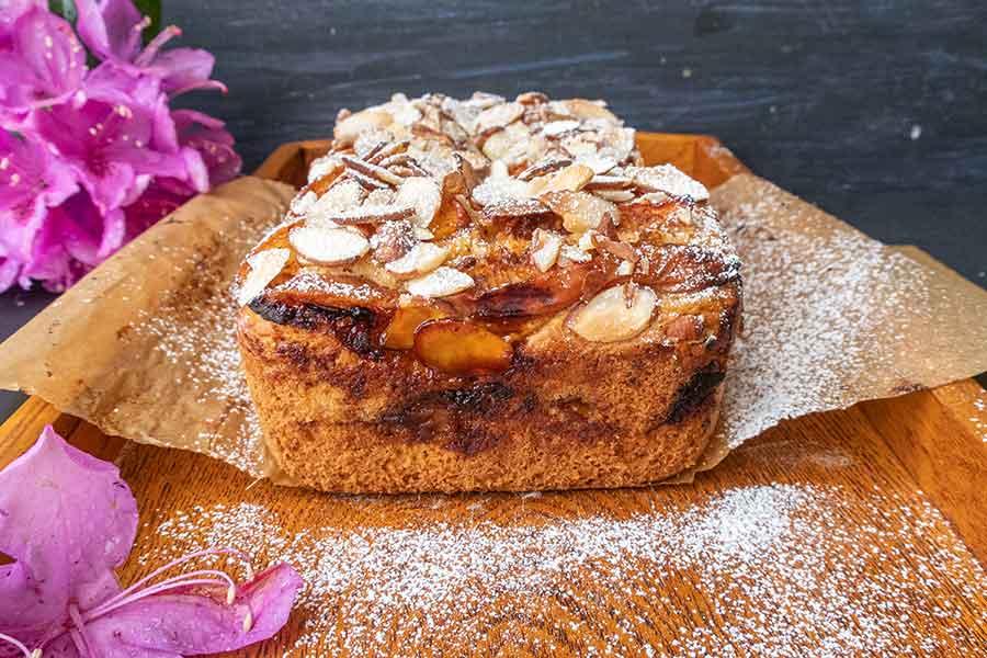 apricot almond quickbread, gluten free