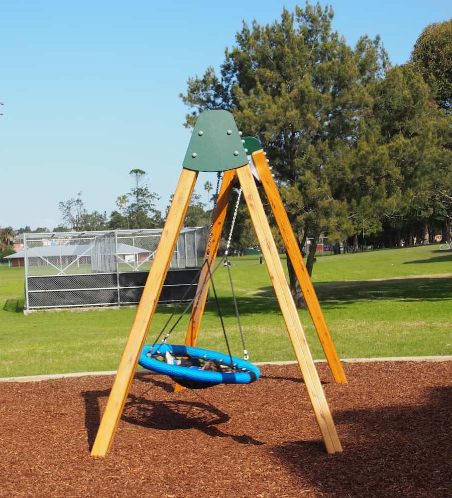 This neighbourhood playground, Federal Park located in Wallsend will be a surefire hit with your kids. The play equipment features a slide, a climbing wall, a spiderweb and plenty of things to climb on. There's also a large group swing and wobblies and suits a range of ages from toddlers to big kids. Great playground to visit before or after a trip to Wallsend Pool!