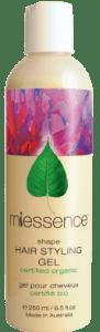 MiessenceCertified Organic Shape Styling Gel, max hydration method