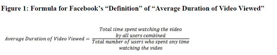 average duration metric definition from Facebook video advertising metrics lawsuit