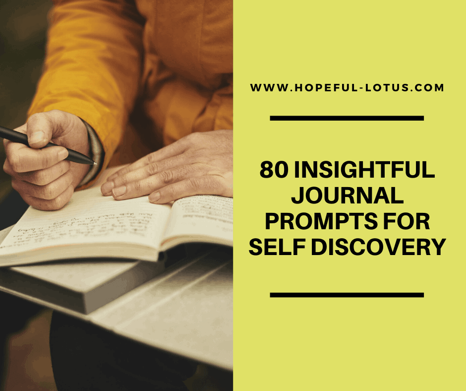 80 insightful journal prompts for self discovery