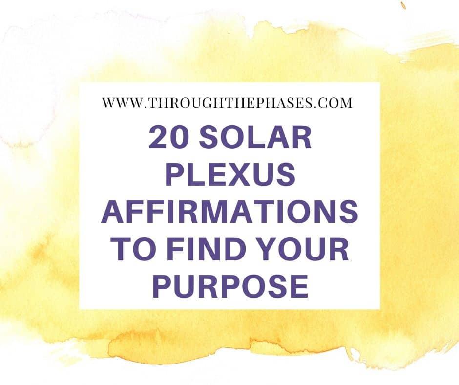 powerful solar plexus affirmations