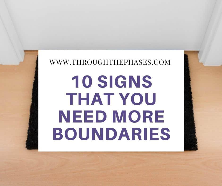 setting boundaries in relationships
