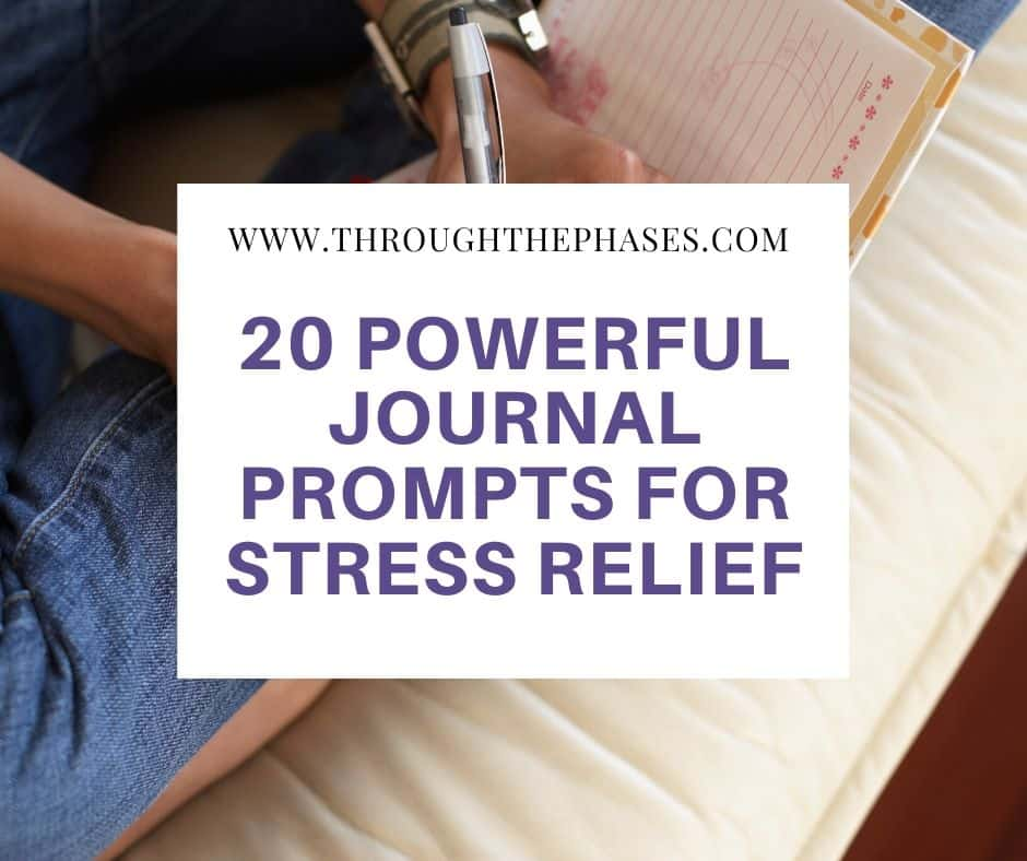journal prompts for stress relief