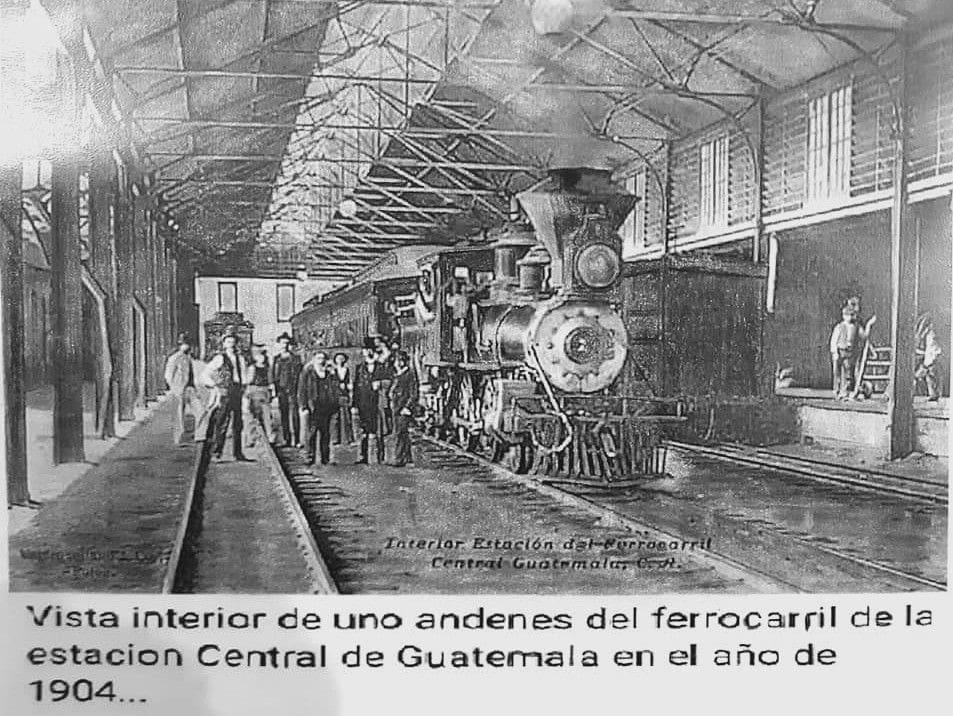 Interior de la Estación Central en 1904
