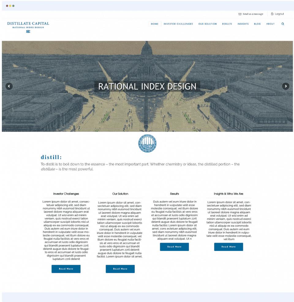 Distillate Capital Homepage