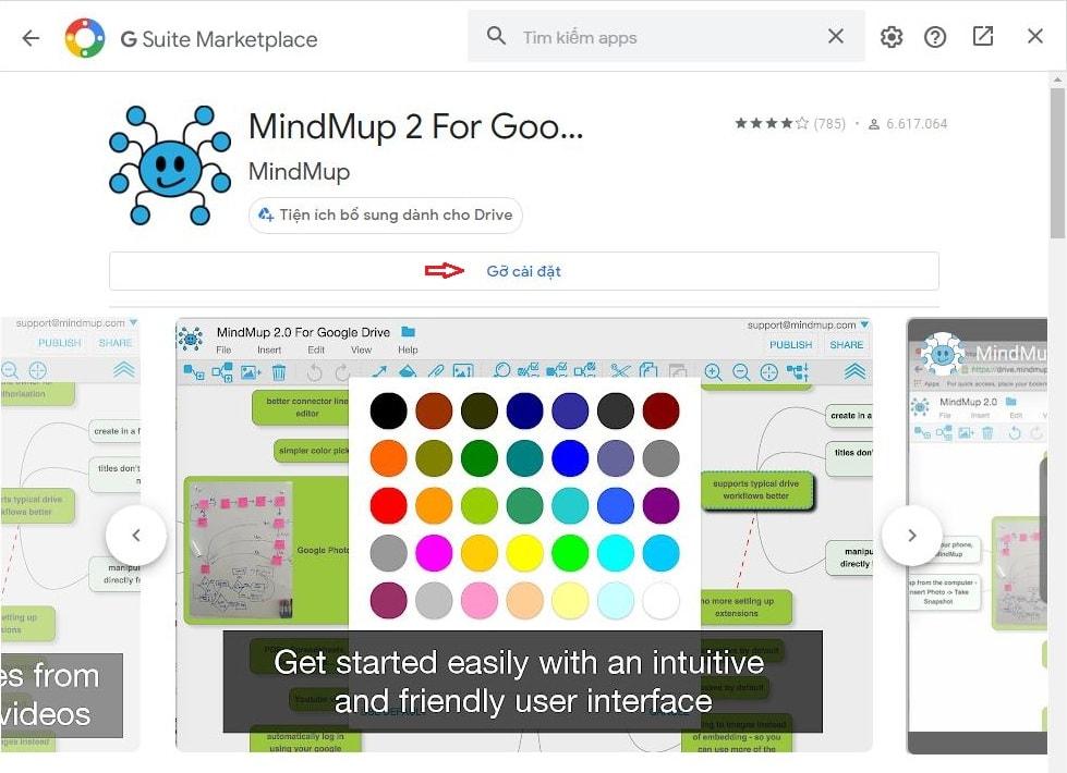 Cài đặt tiện ích vẽ mindmap cho google drive