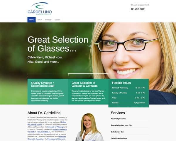 Cardellino Eyecare & Optical Website