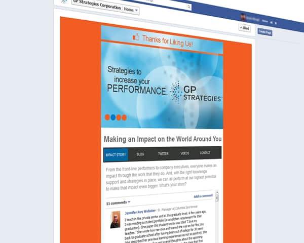 GP Strategies Custom Facebook Pages