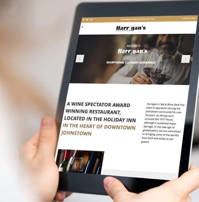 Harrigan's Cafe & Wine Deck Website