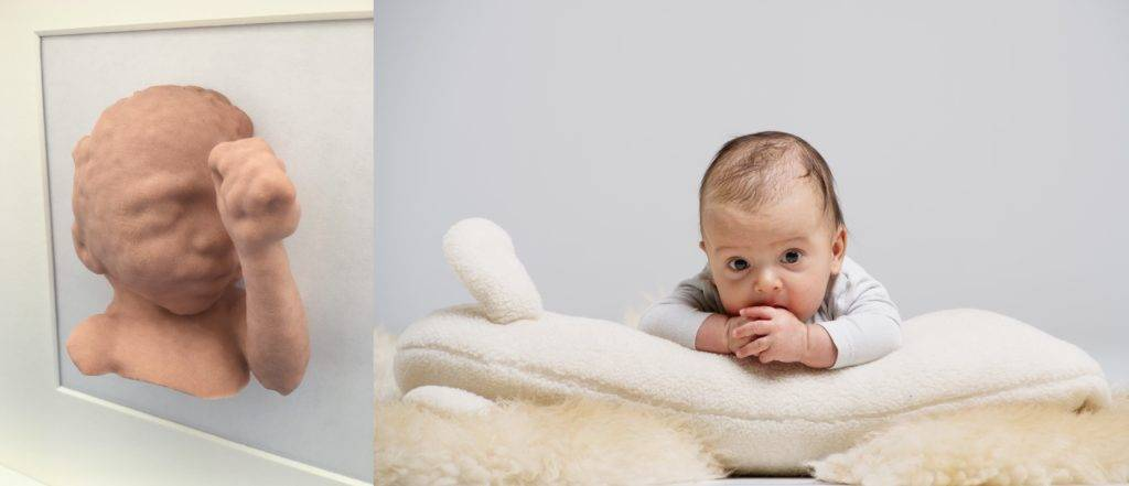The 3d Ultrasound and the 3D baby figurine